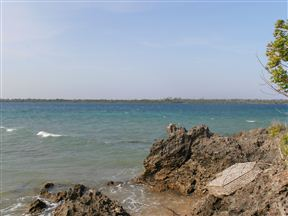 View of the mainland from Wasini Island