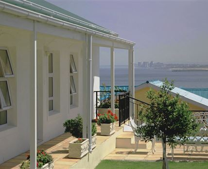 View towards sea from communal porch