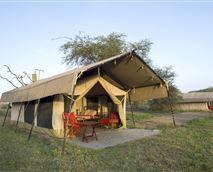 Comfortable and well appointed accommodation tents