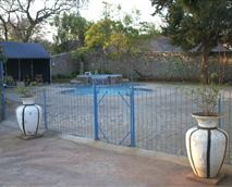 secured swimming pool area
