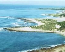 Birds eye view of coastline. Glengariff (Breaking Waves) top right corner <br />