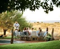 Guests enjoying a sundowner.