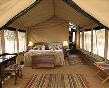 Interior of luxury tents.