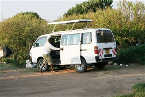 The safari van with a poop up roof for easy game viewing.