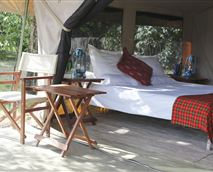 Meru-style tent interior