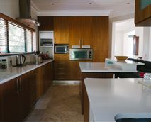 Fully equipped kitchen, with dishwasher. And you can ask the housekeeper on request to prepare your self catering breakfast for you,