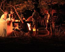 Guests enjoying an evening braai.