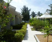 Walkway to the apartments