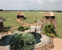 The pool, tents and lapa