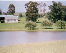 Dam and cottage
