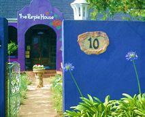 Purple House Entrance