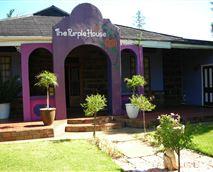 Main entrance of Purple House