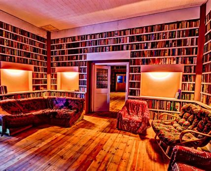 Huge private library and record collection