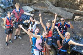 Happy gang of Tourists enjoy Activities, Hermanus