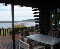 Big Log Cabin:  deck
