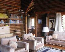 Big Log Cabin:  Living Room