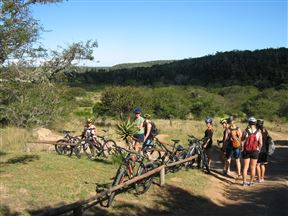 Cyclists on Sebumo Tude Mountain Bike Trail