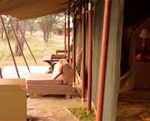 Veranda outside tent