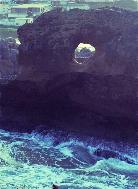 Hole in the wall at Konki Bay, Tsitsikamma