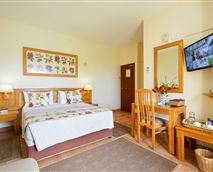Room en-suite, queen size bed & single bed. Air-conditioned  with tea coffee making facilities, hairdryers,  small bar fridge, electronic safes, TV (dstv) ,euro-outlets for charging cellphones /computers, comes complete  with guest amenities.