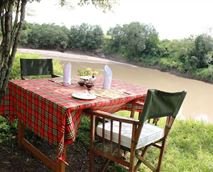 Dining next to the river