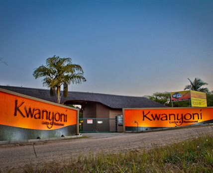 Entrance Kwanyoni Lodge on N4 @ Alkmaar Crossing 16km West of Nelspruit