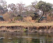 The camp overlooking the river