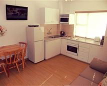 Two bedroom apartment kitchen/living area