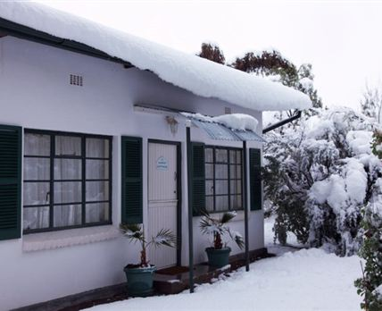 A snow-covered Karoo Cottage