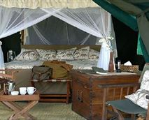 Interior of the tents
