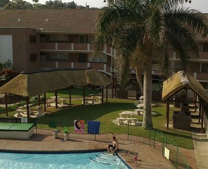 Complex communal pool and braai area