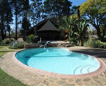 Pool and dining gazebo