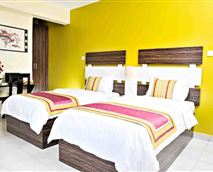 Our Spacious Twin Suite with 2 single beds