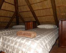 Loft bedroom, up a ladder