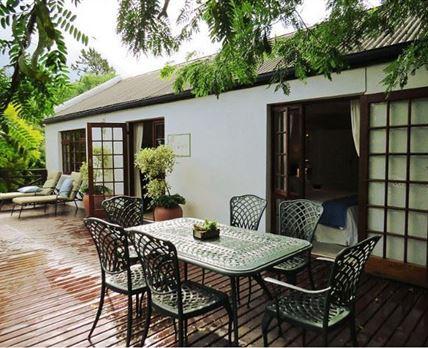 Cottage deck area
