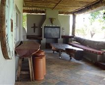 Braai area and laid-back patio area