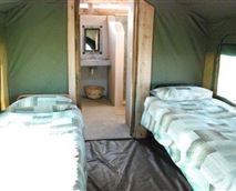 Interior of tents