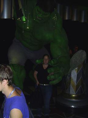 The Hulk at Madam Tussauds