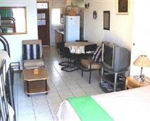 Open-plan studio layout