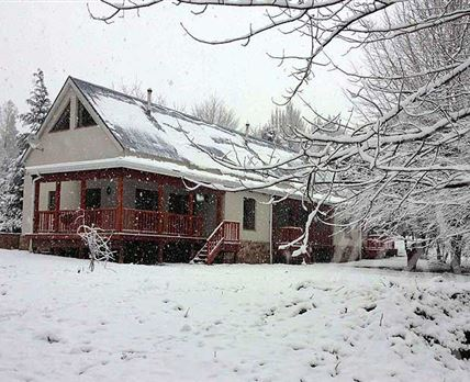 Cottages in the snow - August 2014