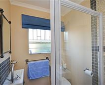 Shower, toilet and basin