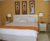 Bedroom with Helderberg view