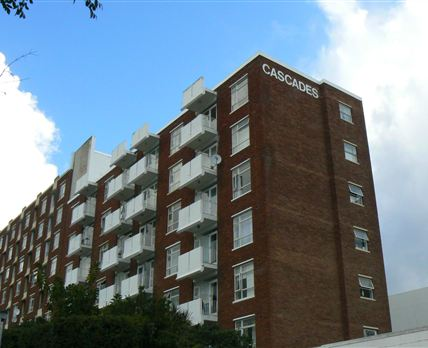 Situated in the Cascades block of flats