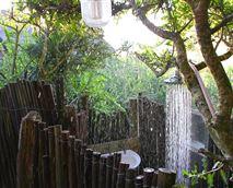 Bush cabin outdoor shower