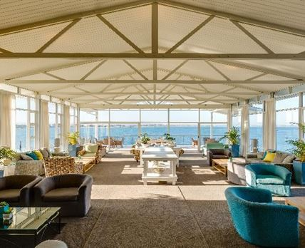 Enjoy stunning views of the Saldanha Bay from the hotel lounge