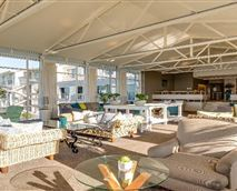 The hotel lounge is the ideal place to take in beautiful views of the Saldanha Bay while sipping on cocktails.