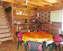 Living area inside of the cabin