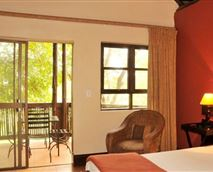 Guest room and balcony