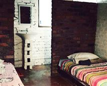 Bedroom 2 - Double bed and 2 three quarters w ensuite shower and toilet