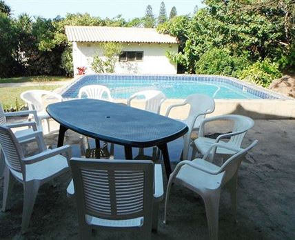 Patio and swimming pool